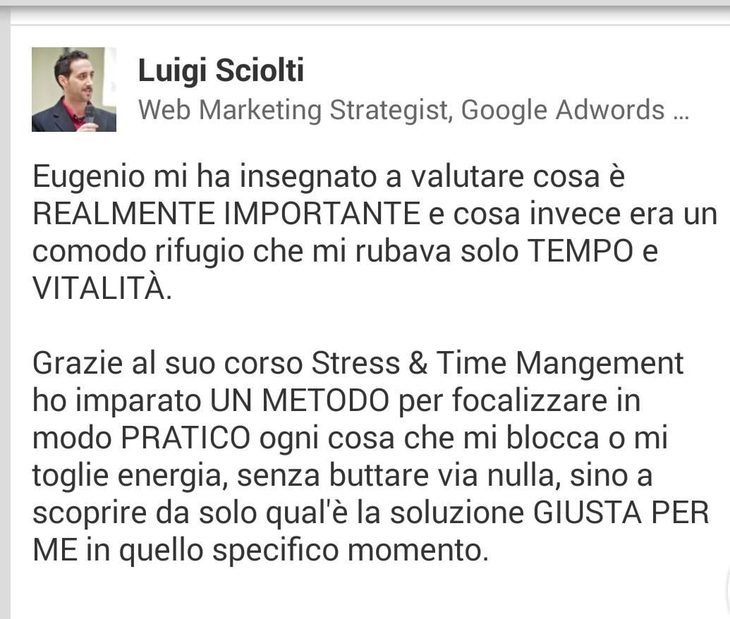 Testimonianza Luigi Sciolti